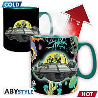 Чашка хамелеон RICK & MORTY Spaceship (Рик и Морти) 460мл