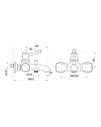 Змішувач для ванни Imprese Podzima Zrala ZMK02170804, чорний, фото 2
