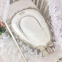 Кокон - гнездышко для новорожденных Royal шоколад