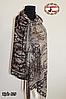 Павлопосадский коричневый палантин Осенний шик, фото 3