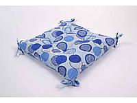 Подушка на стілець 45х45 Erin із завязками блакитний ТМLotus
