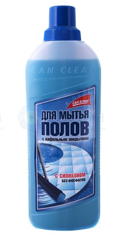 Средство для мытья пола и кафеля САН КЛИН, 1 литр