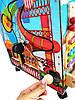 БОЛЬШОЙ БИЗИБОРД БИЗИДОМ «Меча малыша» с подсветкой, мягкой игрушкой и каналом для полета шарика, фото 10