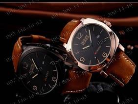 Часы Curren Leisure Series, мужские часы, водостойкость, кожаный ремешок, стильные часы, , фото 2