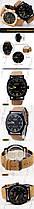 Часы Curren Leisure Series, мужские часы, водостойкость, кожаный ремешок, стильные часы, , фото 3