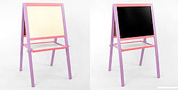 Мольберт 50*40 см фиолетово-розовый Игруша