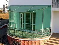 Остекление балкона с стеклянной крышей