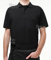Черная мужская рубашка поло с коротким рукавом