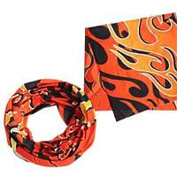 Бафф бандана-трансформер, шарф из микрофибры, огонь
