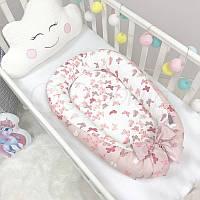 Кокон гнездышко для новорожденных Baby Design Premium Бабочки