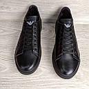 Кеды кожаные мужские черные Armani размер 40, 41, 42, 43, 44, 45, фото 2