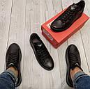 Кеды кожаные мужские черные Armani размер 40, 41, 42, 43, 44, 45, фото 3