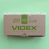 Батарейка VIDEX LR03 ААА 1.5 V лужна Alkaline микропальчиковая, фото 4