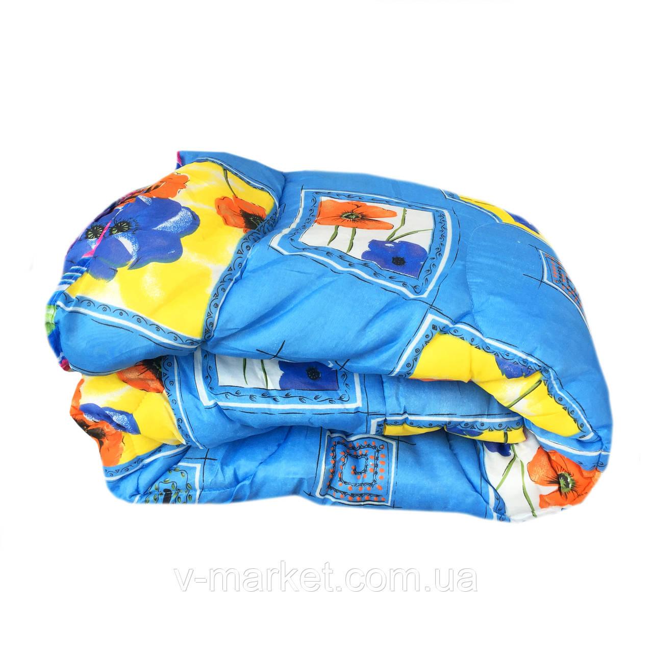 Одеяло двуспальное холлофайбер СТАНДАРТ, ткань бязь (поликоттон)