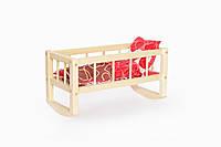 Деревянная кроватка качалка для кукол Светло-бежевый 33-SAN001, КОД: 905910