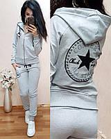 Спортивный модный женский спортивный костюм Converse принт Звезда на спине норма и батал