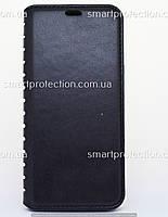 Чехол-книжка leather folio для Samsung A6 2018 черный