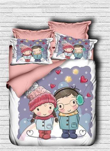 Комплект постельного белья двуспальный Ranforce 3D Love Is 200х220 (205OZ_2,0)