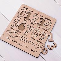 Детские деревянные пазлы цифры вкладыш