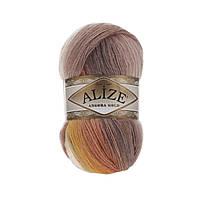 Зимняя пряжа (20%шерсть,80%акрил; 100г/550м) Alize Angora Gold Batik 4741