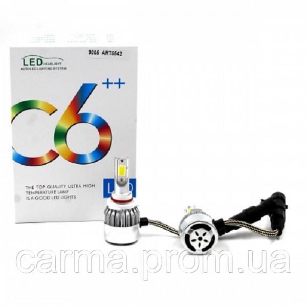 Автомобильные лампы светодиодные С6 LED HB3 9005 Белые