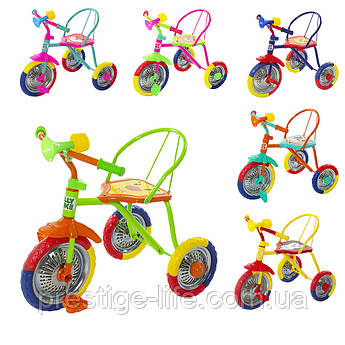 Велосипед детский трехколесный Tilly Trike T-317, с сигналом(6 цветов)