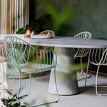Кресло большое для отдыха LEAF металл напоминающий прожилки листьев