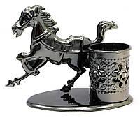 """Подставка для ручек техно-арт """"Лошадь"""" металл"""