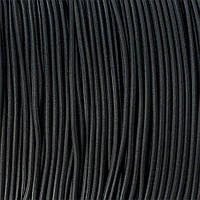 Резинка шнур эластичный ЧЕРНЫЙ, 2.5 мм