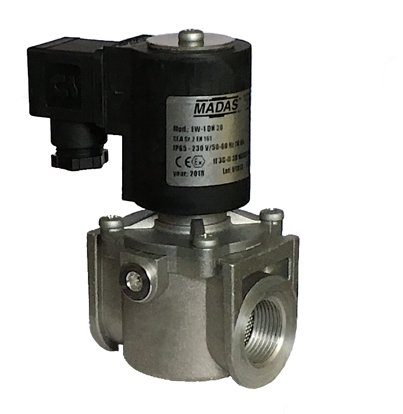 Электромагнитный клапан EW-1, DN25, P=500 mbar (MADAS)