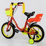 Велосипед детский двухколесный 14 красный Corso 1493, фото 2