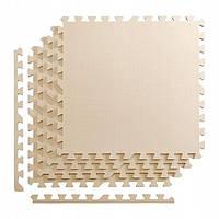 Мат-пазл, ласточкин хвост 4FIZJO Mat Puzzle Eva 120 x 120 x 1 cм 4FJ0075 Beige SKL41-227863