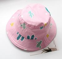 Панама рожева Мікс панамка розовая кепка детская