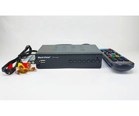 Цифровая T2 приставка, тюнер-приемник DVB-T2 ресивер World Vision T62A Lan SKL31-239432