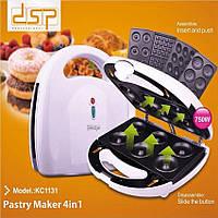 Аппарат для приготовления пончиков и вафель 4 в 1