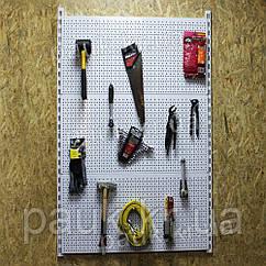 Перфорированный стеллаж настенный Н1450 ТИП 2, настенный стеллаж