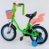 Велосипед детский двухколесный 14 зеленый Corso 1422, фото 2