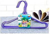 Плечики детские металлические в расцветках, 28 cм, в упаковке 10 шт