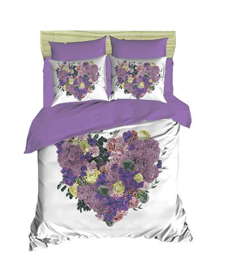 Комплект постельного белья двуспальный Ranforce 3 D Violette 200х220 (266OZ_2,0)