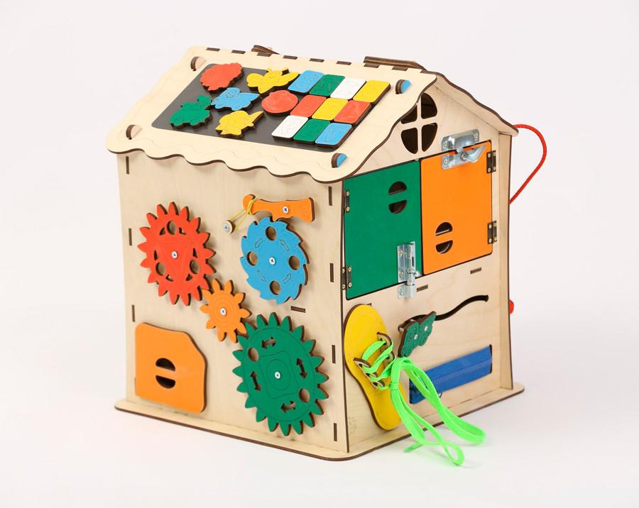 Розвиваюча іграшка Бизидомик | Ігри на логіку | Логічні ігри | іграшки | Дерев'яні іграшки