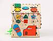 Розвиваюча іграшка Бизидомик | Ігри на логіку | Логічні ігри | іграшки | Дерев'яні іграшки, фото 4