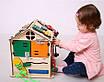 Розвиваюча іграшка Бизидомик | Ігри на логіку | Логічні ігри | іграшки | Дерев'яні іграшки, фото 6