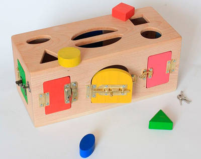 Ящик Монтесори Великий   Ігри на логіку   Логічні ігри   іграшки   Дерев'яні іграшки