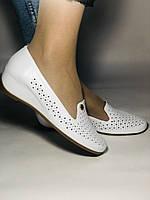 Женские туфли -балетки из натуральной кожи с перфорацией на невысокой платформе. 36,37, 38, 39, 40,41. Турция., фото 7