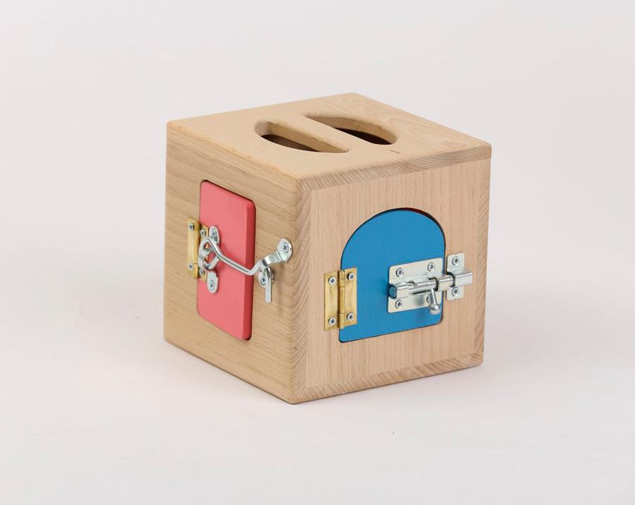 Ящик Монтесори Маленький | Ігри на логіку | Логічні ігри | іграшки | Дерев'яні іграшки