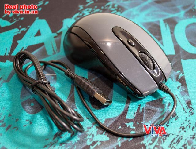 Мышь A4Tech N-708X USB Black Grey (4711421867009)