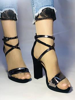 Высокое качество! Женские босоножки с открытым носом на высоком каблуке,с ремешком на щиколотке.35-39 Vellena