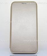 Чехол-книжка premium leather для Samsung A20 золотой