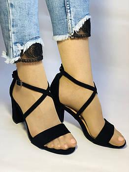 Высокое качество! Женские босоножки на среднем каблуке с ремешком на щиколотке.35, 37, 38,39, 40 .Vellеna