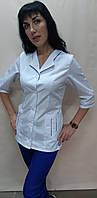 Женский медицинский костюм Зина коттоновый три четверти рукав